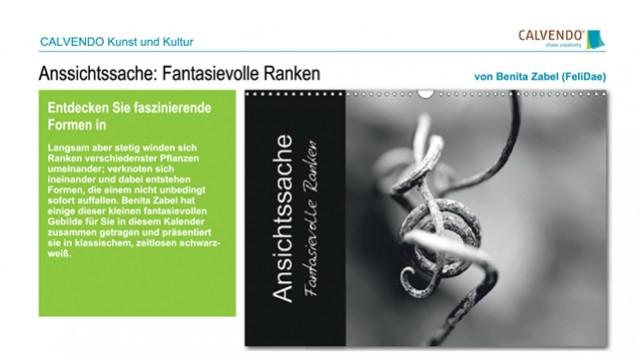 Ansichtssache: Fantasievolle Ranken - Kalender