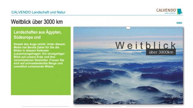 Weitblick über 3000km - Kalender