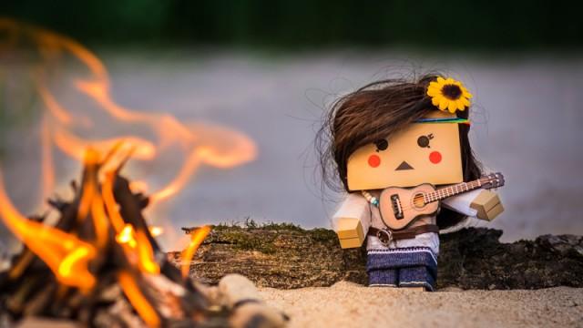 Lilly, die Gitarre und das Lagerfeuer